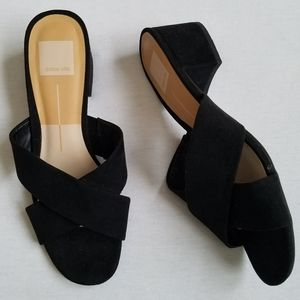 Dolce Vita Ferne Block Heel Sandals black criss